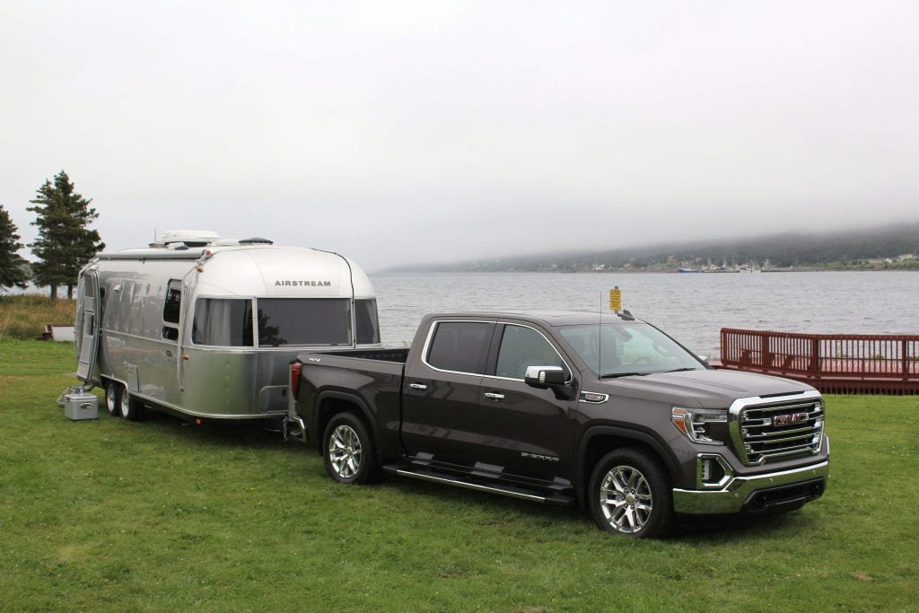 Airstream trailer and pick up truck