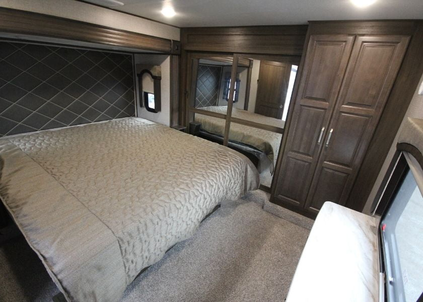 Trailer master bedroom