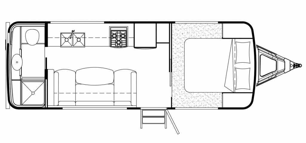 Interior layout of trailer