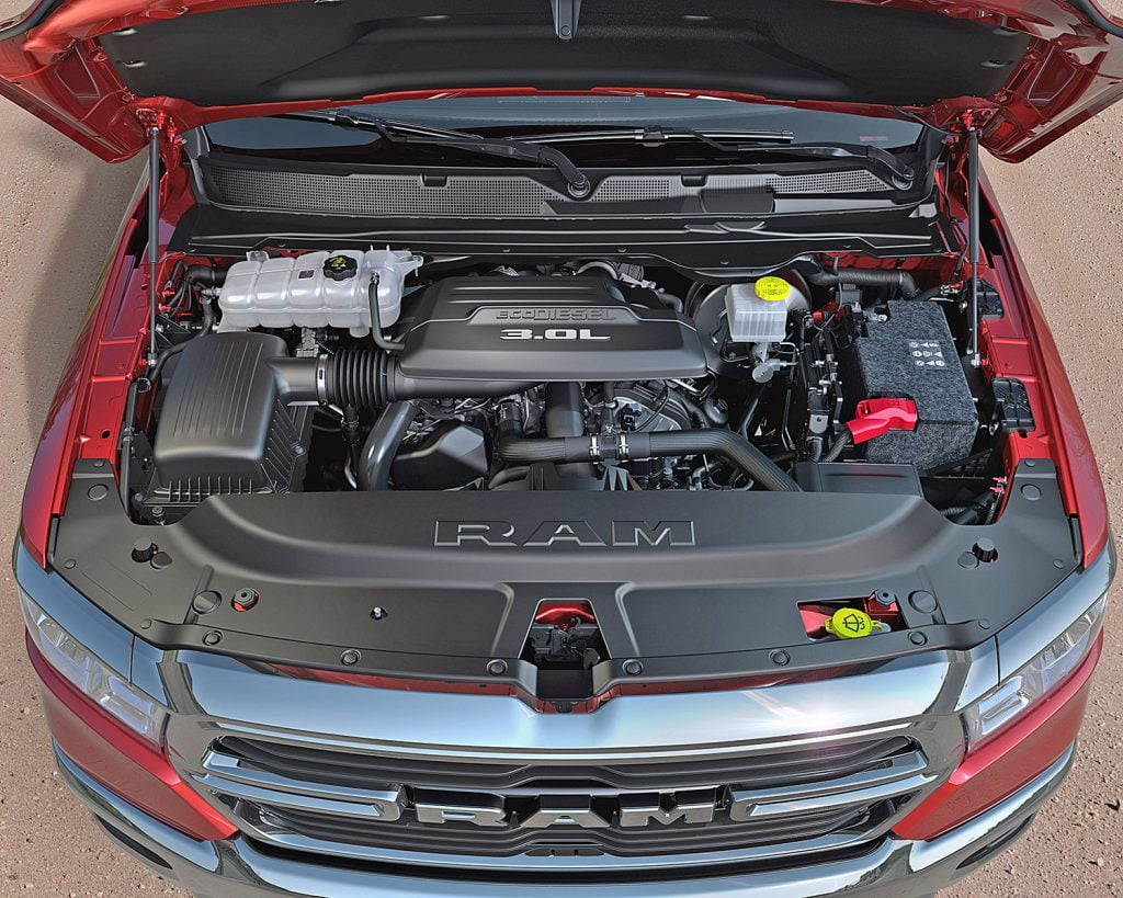 Engine of Ram truck