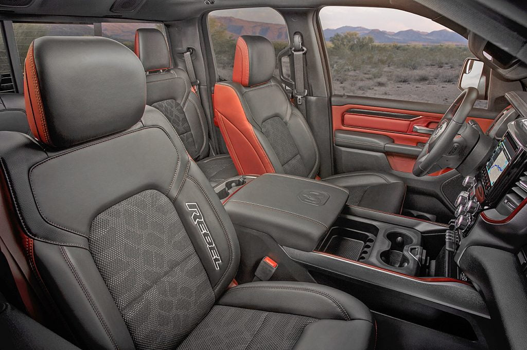 Interior of 2020 Ram 1500 Rebel