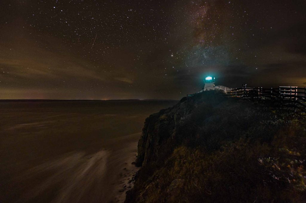 The Milky Way over Cape Enrage Lighthouse