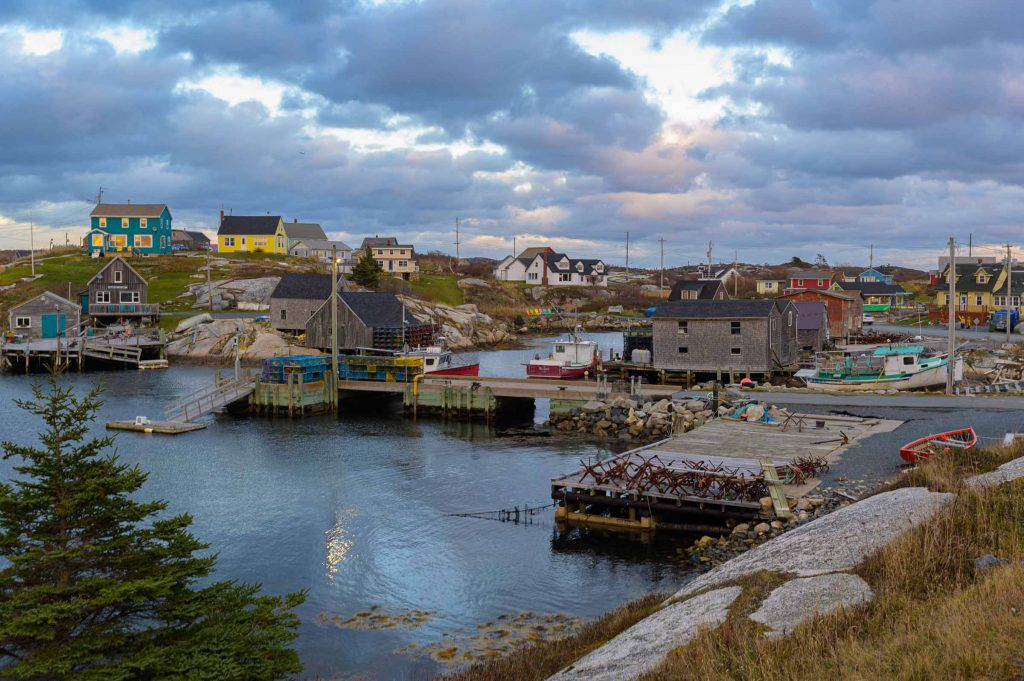 Peggy's Cove at sunset