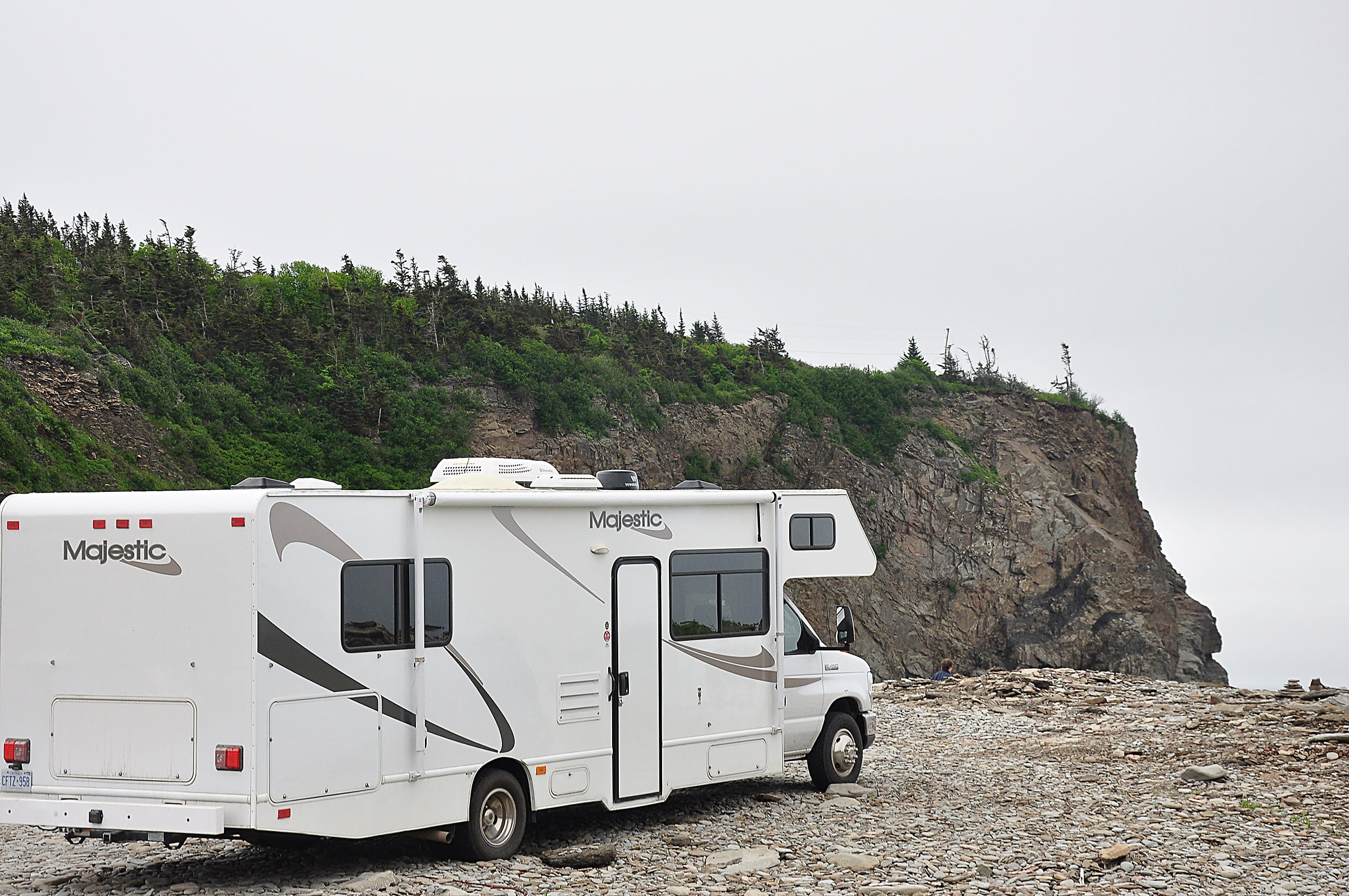 RV parked at Cape Enrage