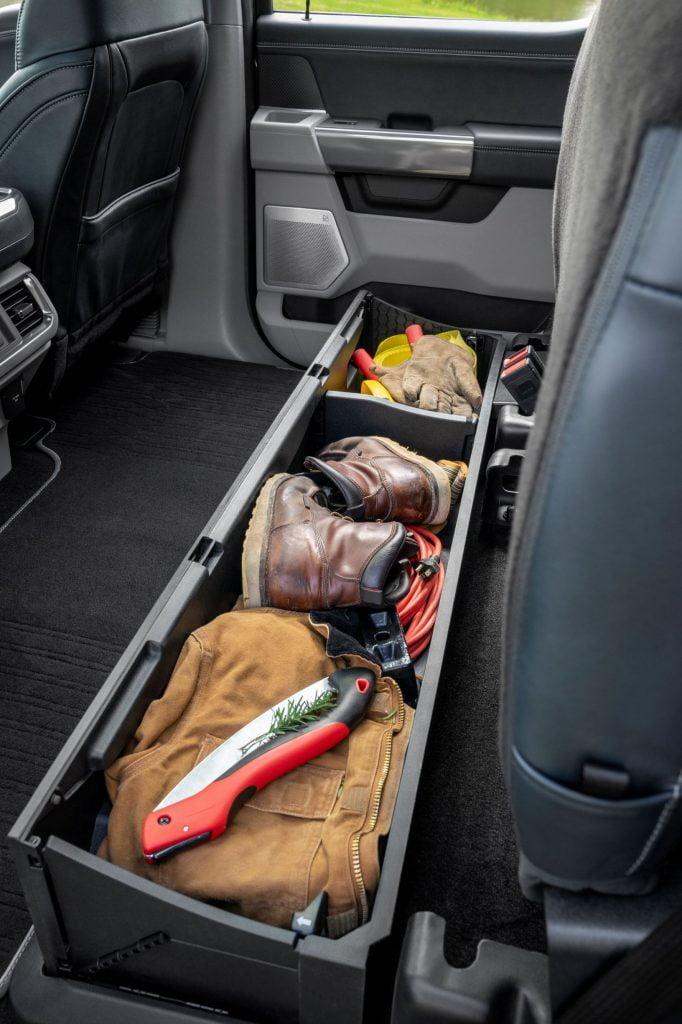 Storage under seat