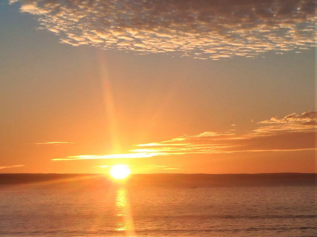Sunset over Barrier Islands