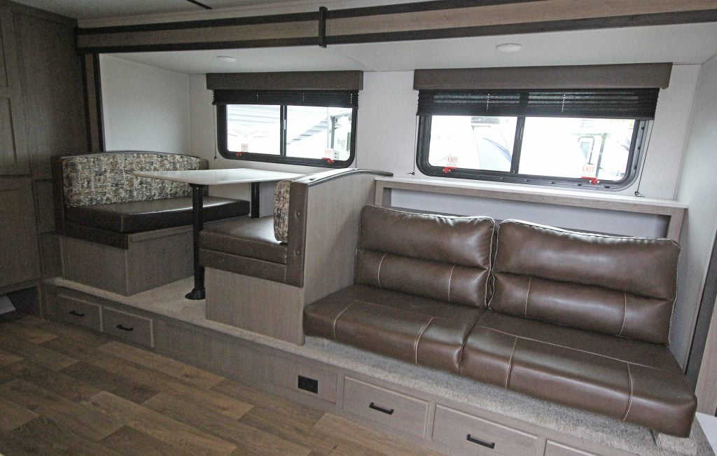Trailer kitchen table and couch