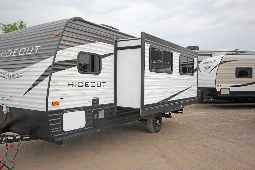 Exterior of trailer