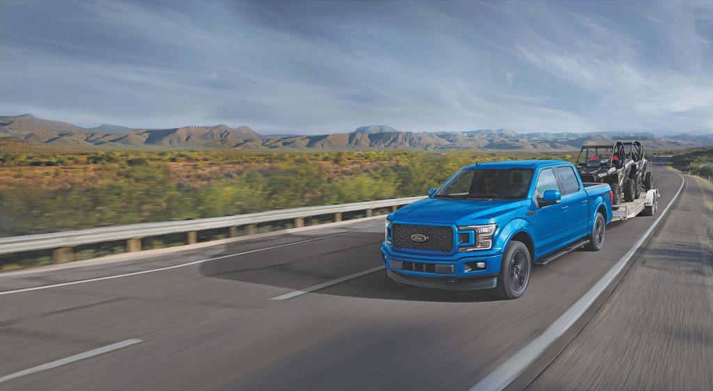 Blue Dodge Ram Truck