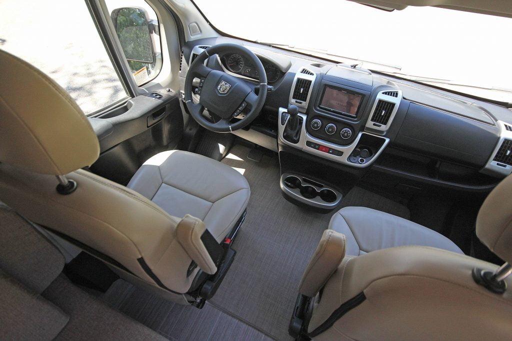 Driver seat of motorhome