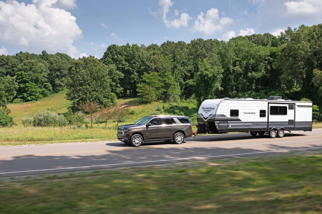 Chevrolet Tahoe pulling a trailer