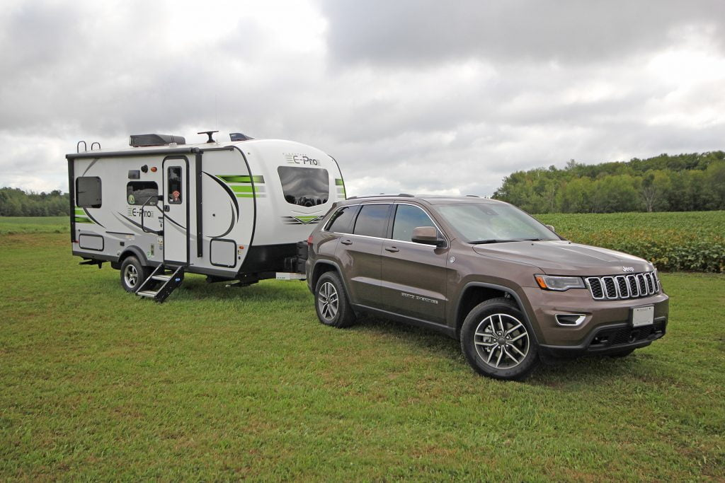SUV Pulling the trailer