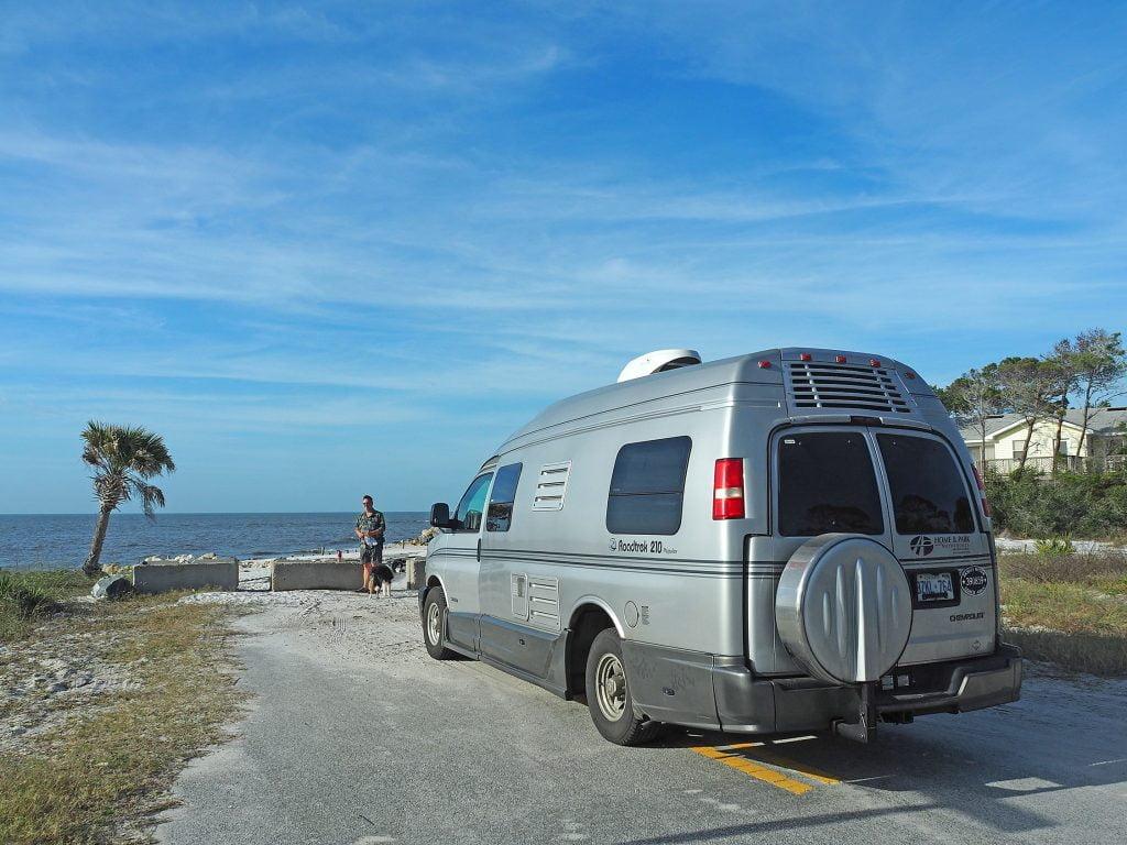 RV near the beach