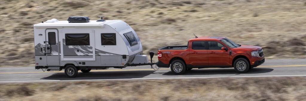 2022 Ford Maverick towing an RV