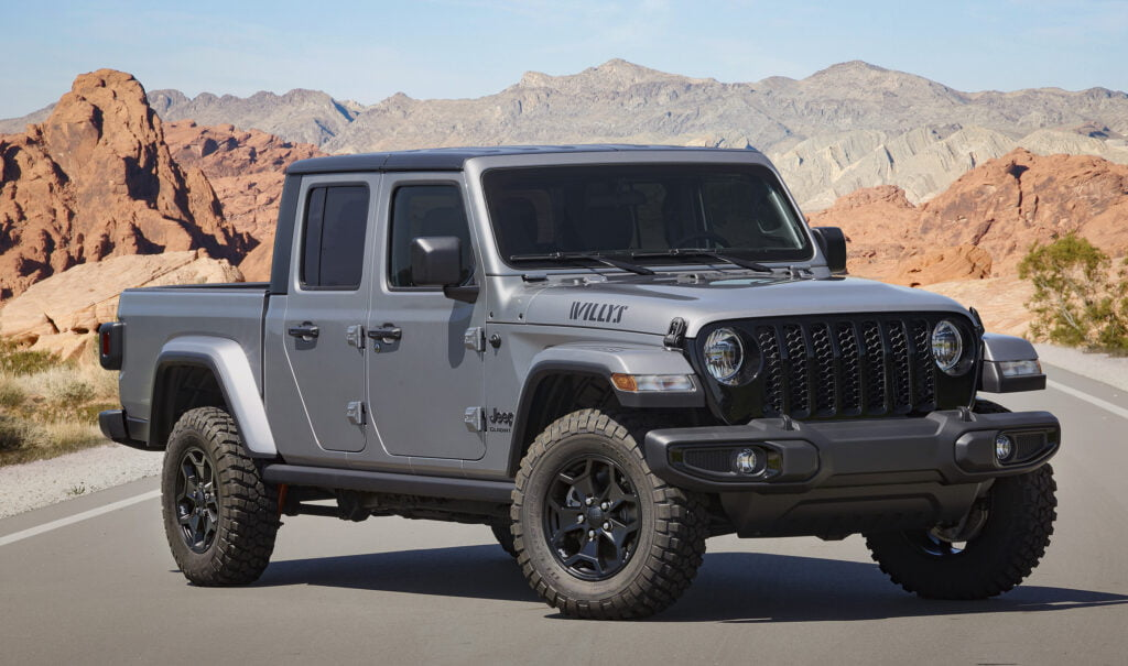 Grey Jeep Gladiator pickup truck