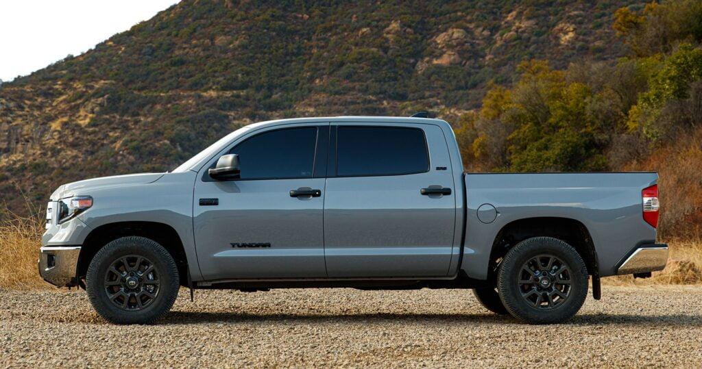 Grey Toyota Tundra pickup truck