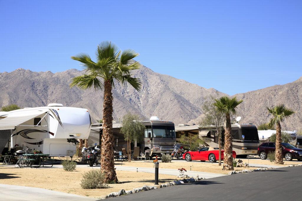 Motor Home Winter Getaway To The California Desert