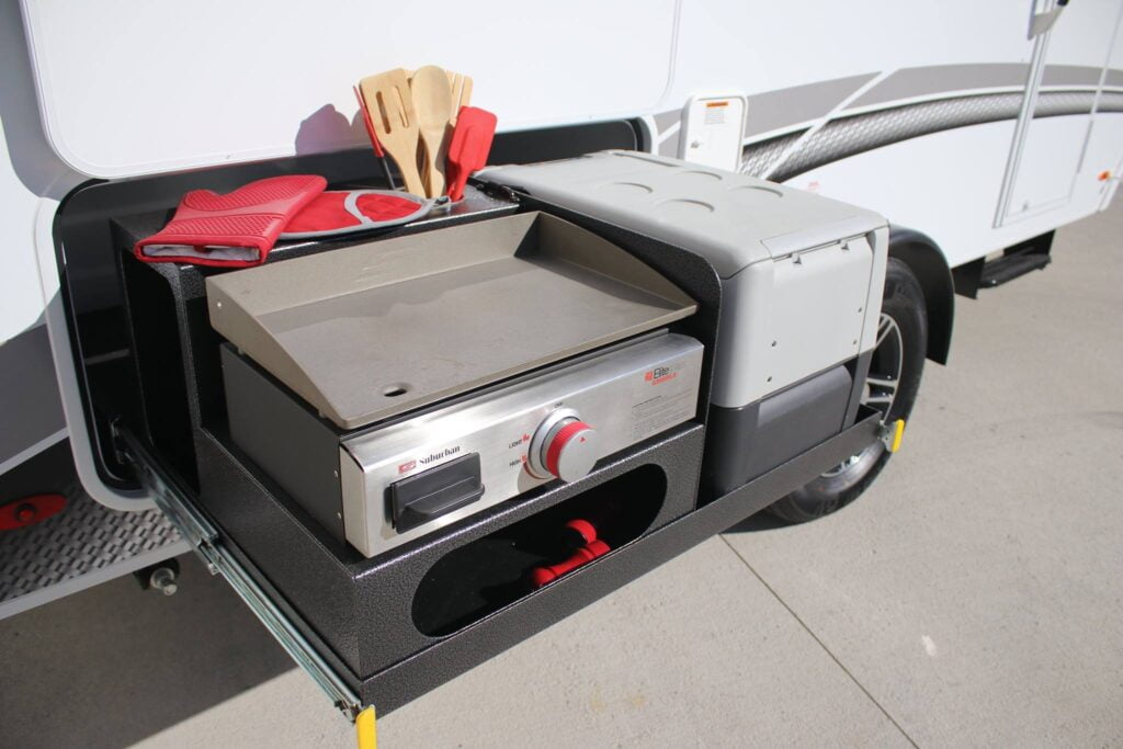 InTech trailer's exterior kitchen