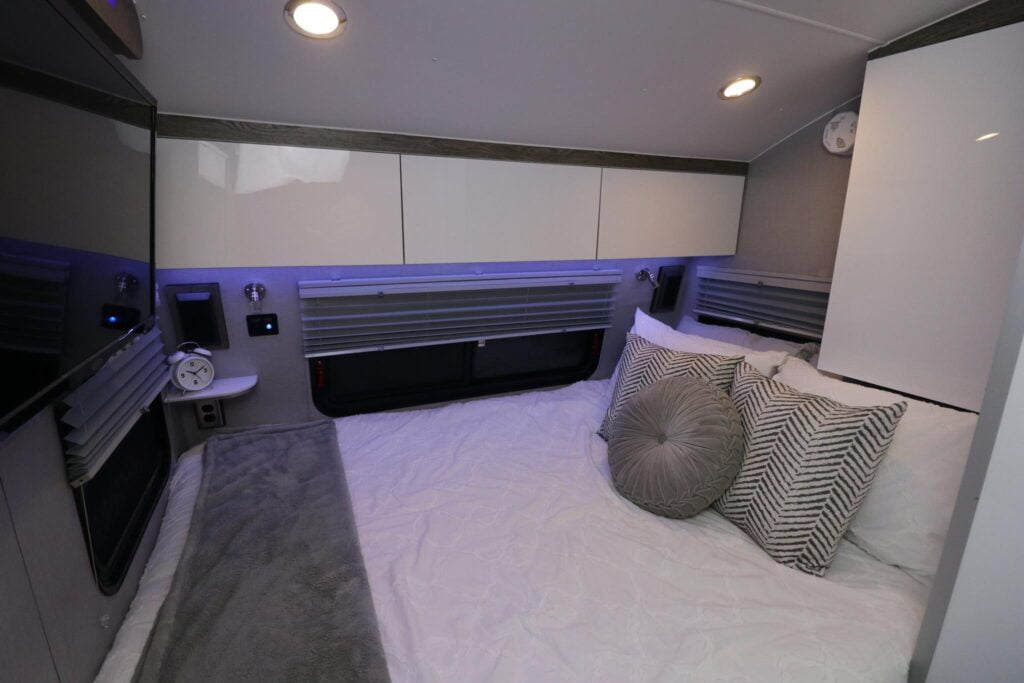 Interior view of the bed in the InTech trailer