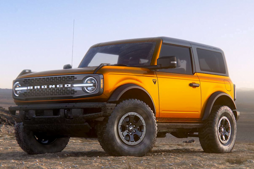 Exterior view of the 2021 Ford Bronco