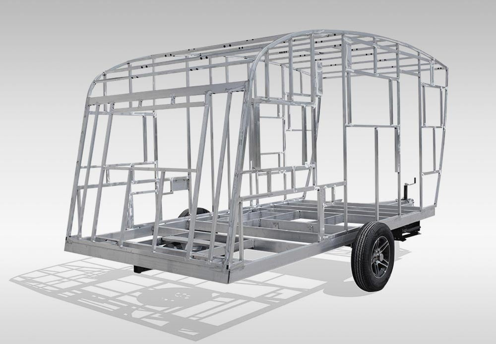 The frame of the InTech trailer