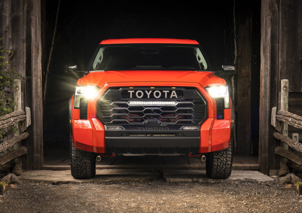Front exterior view of the new 2022 Toyota Tundra